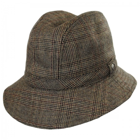 Hills Hats of New Zealand Plaid Wool Felt Walking Fedora Hat