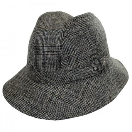 Hills Hats of New Zealand Plaid Walking Fedora Hat