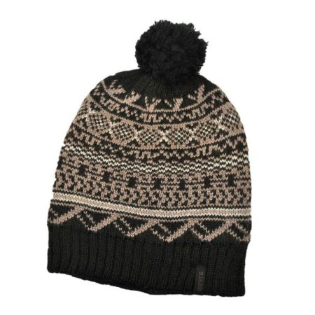 Ignite Beanies Fair Isle Pom Beanie Hat