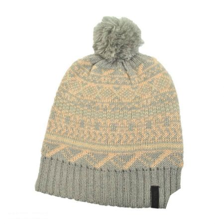 Ignite Beanies Fairisle Pom Beanie Hat