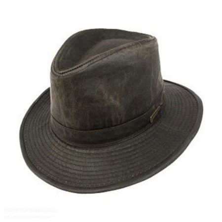 Indiana Jones Weathered Cotton Safari Fedora Hat