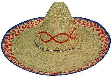 Jacobson Mexican Palm Straw Sombrero