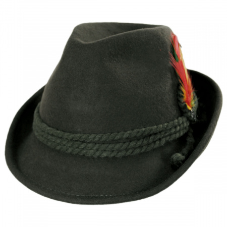 Jaxon Hats Alpine Wool Felt Fedora Hat
