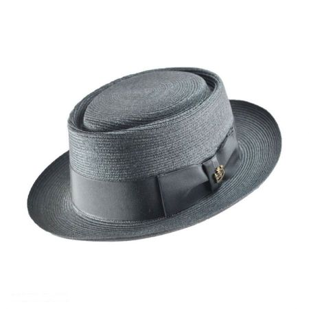Jaxon Hats Biltmore for Jaxon Milan Straw Pork Pie Hat