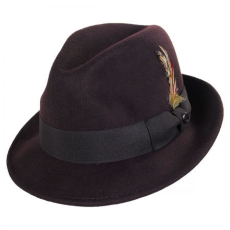 Jaxon Hats Blues Crushable Wool Felt Trilby Fedora Hat All Fedoras 098f4901e76