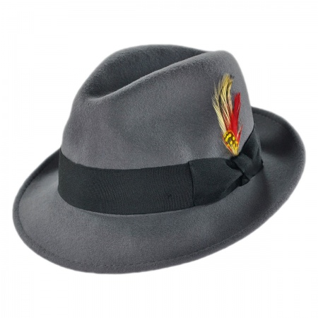 Blues Crushable Wool Felt Trilby Fedora Hat alternate view 123