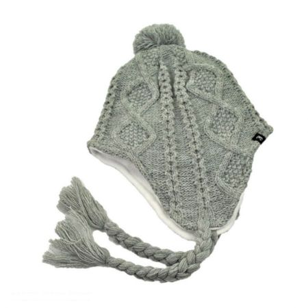 Cable Knit Acrylic Peruvian Beanie Hat