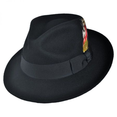 C-Crown Crushable Wool Felt Fedora Hat alternate view 1