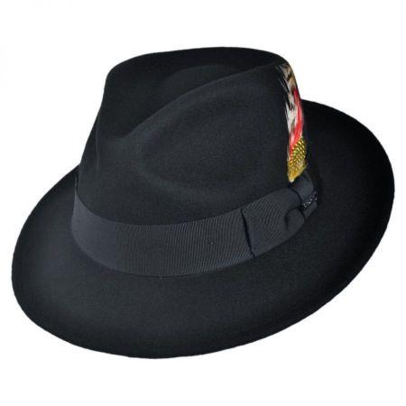 Jaxon Hats C-Crown Crushable Wool Felt Fedora Hat