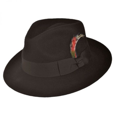 Jaxon Hats C-Crown Crushable Wool Felt Fedora Hat Crushable a3287e79abd0