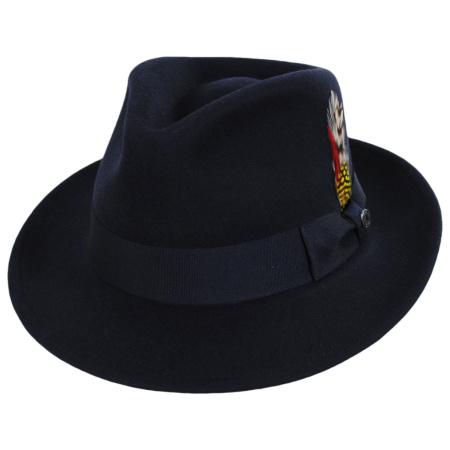 Jaxon Hats - C-Crown Crushable Wool Felt Fedora Hat