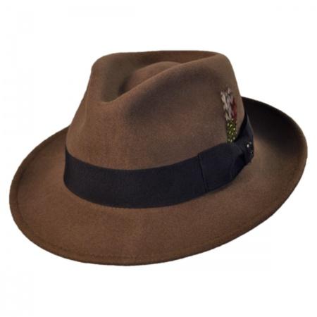 26f3c75b Jaxon Hats C-Crown Crushable Wool Felt Fedora Hat Crushable
