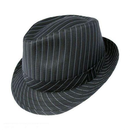 Jaxon Hats Pinstripe Fabric Trilby Fedora Hat
