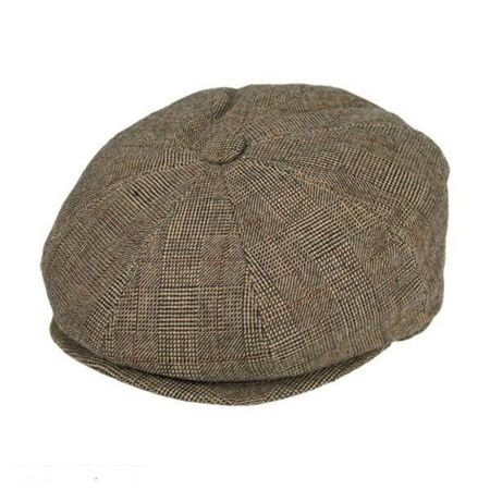 Jaxon Hats Check Wool Blend Newsboy Cap
