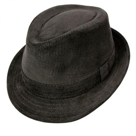 Jaxon Hats Corduroy C-Crown Stingy Brim Fedora Hat