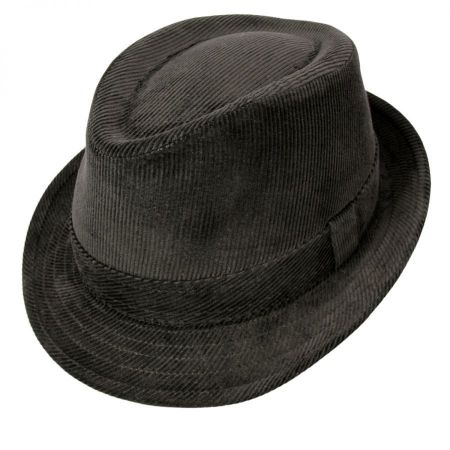 Jaxon Hats Corduroy C-Crown Stingy Brim Fedora Hat