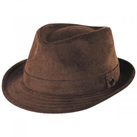 Jaxon Hats Corduroy C-Crown Trilby Fedora Hat