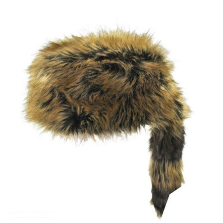 Jaxon Hats Crockett Coonskin Faux Fur Cap