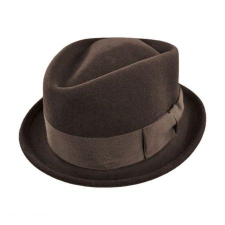 Crushable Wool Felt Diamond Crown Fedora Hat alternate view 10