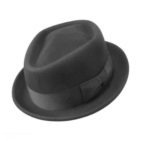 Wool Felt Diamond Crown Fedora Hat