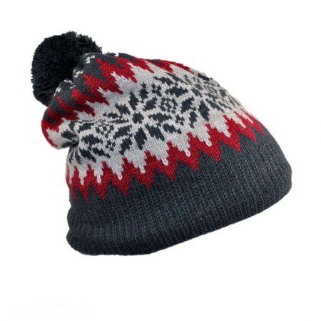Fair Isle Acrylic Beanie Hat