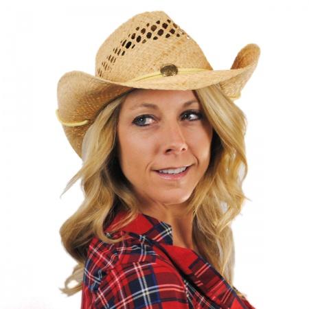 Jaxon Hats Maggie May Straw Western Hat