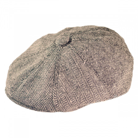 Herringbone Wool Blend Newsboy Cap alternate view 1