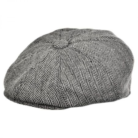 Herringbone Wool Blend Newsboy Cap alternate view 7