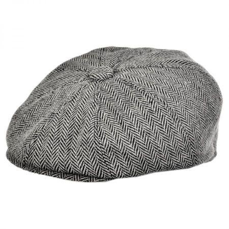 Jaxon Hats Herringbone Wool Blend Newsboy Cap