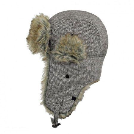 Herringbone Wool Blend Trapper Hat alternate view 5