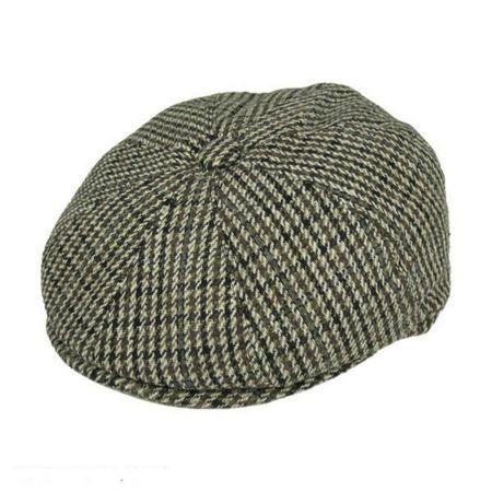 Houndstooth Wool Blend Newsboy Cap