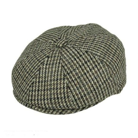 Jaxon Hats Houndstooth Wool Blend Newsboy Cap