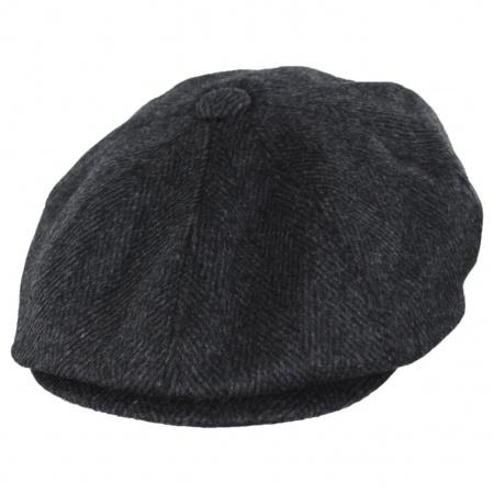 22cc7eb913 Large Herringbone Wool Blend Newsboy Cap