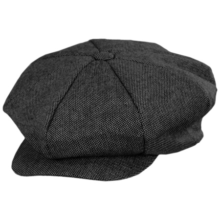 Marl Tweed Big Apple Cap