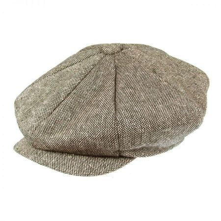 Jaxon Hats Marl Tweed Wool Blend Big Apple Cap