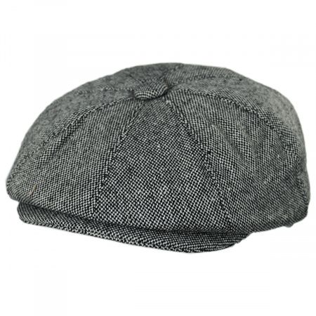 Marl Tweed Wool Blend Newsboy Cap alternate view 6