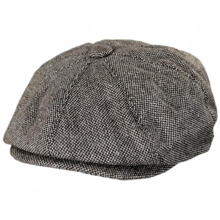 Jaxon Hats Marl Tweed Wool Blend Newsboy Cap