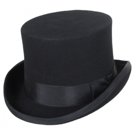 Mid Crown Wool Felt Top Hat alternate view 1