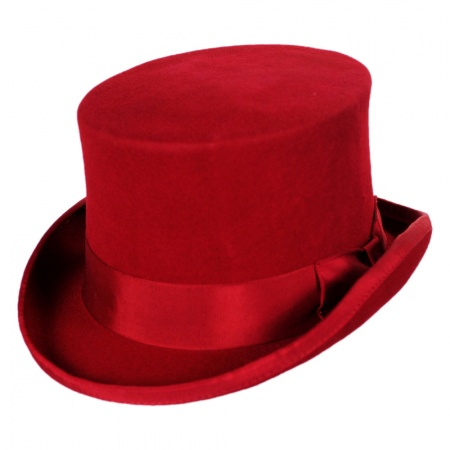 Mid Crown Wool Felt Top Hat alternate view 44