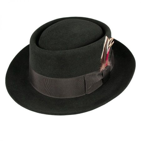 Jaxon Hats Monk Fur Felt Pork Pie Hat
