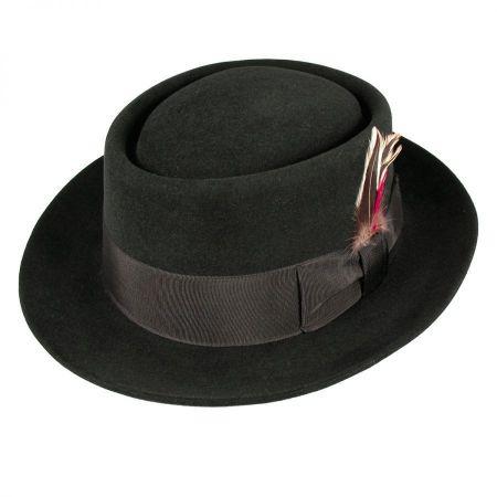 Jaxon Hats Monk Fur Felt Pork Pie Hat
