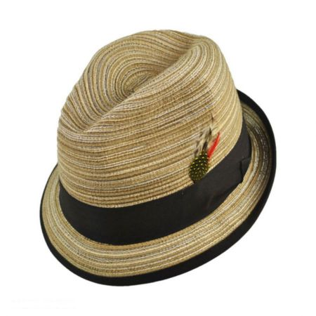 Jaxon Hats Multi Stripe Cotton Braid Trilby Fedora Hat