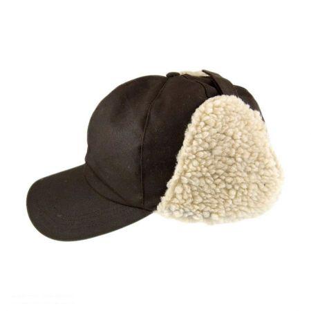 Oilcloth Earflap Cap