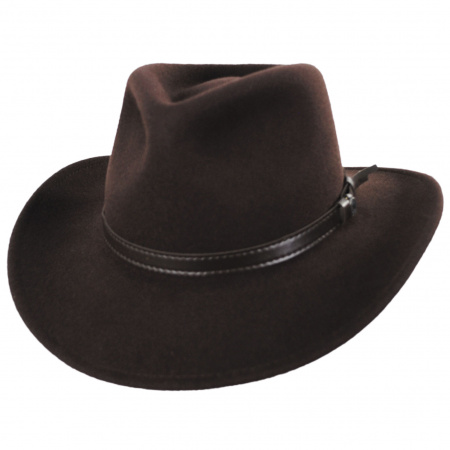 93223dc39 Crushable Wool Felt Outback Hat