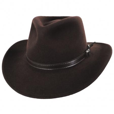 Jaxon Hats Crushable Wool Felt Outback Hat