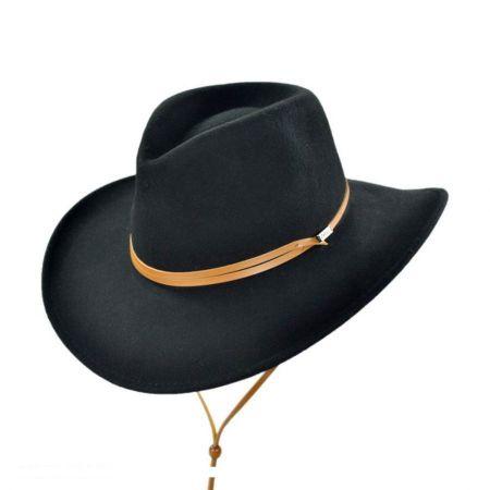 Jaxon Hats Crushable Wool Felt Chincord Outback Hat