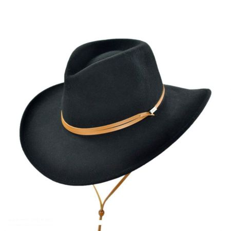 Jaxon Hats Crushable Outback Hat with Chincord