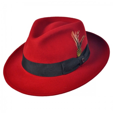 Jaxon Hats Pachuco Crushable Wool Felt Fedora Hat