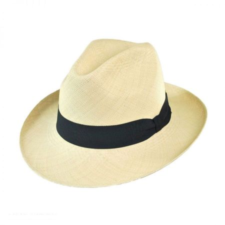 Jaxon Hats Brisa Grade 8 Panama Straw Fedora Hat