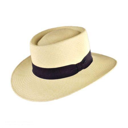 Jaxon Hats Cuenca Panama Straw Gambler Hat